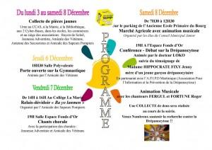 Programme Téléthon 2012 au Marigot