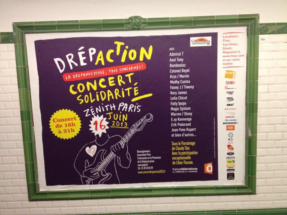 Affichage dans le métro parisien - Drepaction 2013
