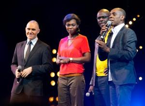 Frédéric Durpaire, Kareen Guiock, Lilian Thuram et Claudy Siar durant le Drépaction 2013