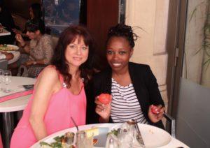 Cécile VALENCOT et Cassandra TRIMNELL, le 13 août 2016 à Paris