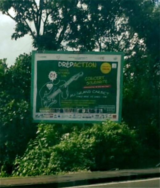 Panneaux publicitaires Drépaction Martinique