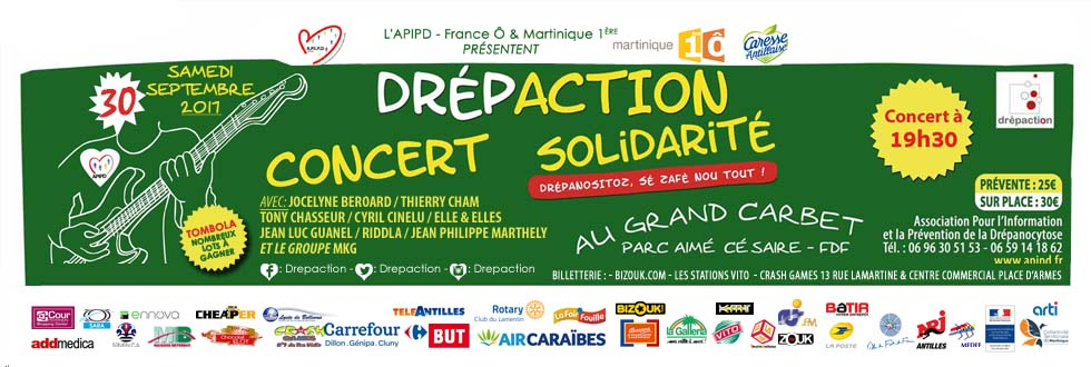 Drépaction 2017 - Concert de solidarité en Martinique
