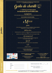 Invitation au gala de charité 2019