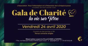 L'Association Pour l'Information et la Prévention de la Drépanocytose a le plaisir de vous convier à son gala de charité La Vie sur Terre vendredi 24 avril 2020
